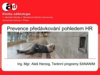 Prevence předávkování - prezentace Aleše Herzoga na kurzu pro adiktology 2014