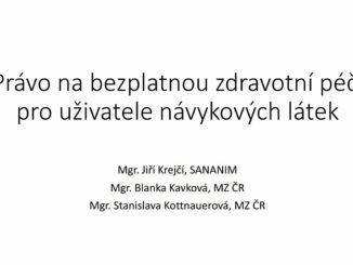 Prezentace Jiřího Krečího na téma práva na ošetření a práva na hospitalizaci z LŠHR 2018