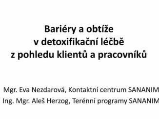 Prezentace Evy Nezdarové a Aleše Herzog na téma Detoxifikace v rámci květnové Purkyňky 2019