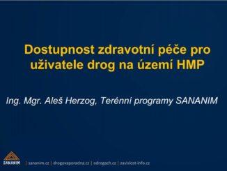 Prezentace Aleše Herzoga na téma Dostupnost zdravotní péče v Praze z konference SZU 2019